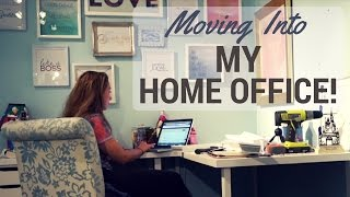 Working From Home - Moving Into My Home Office - Vlog