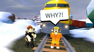ARRESTING PEOPLE ON TRAIN TRACKS PRANK! (Roblox Jailbreak)