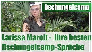 Dschungelcamp 2014: Larissa Marolt - Ihre besten Dschungelcamp-Sprüche