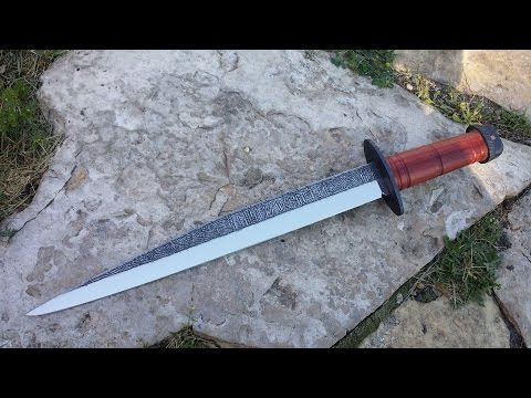 forging and engraving a broken back viking seax short sword