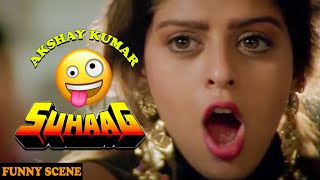 Akshay Kumar Try To See Something But ....| Funny Scene From Movie Suhaag