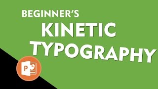 Kinetic Typography Text Animation Preview | Motion Graphics in PowerPoint 2016