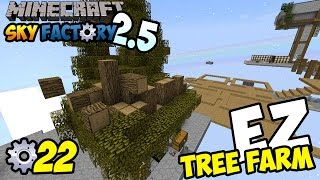 TREE FARM OTOMATIS! ~ Minecraft Sky Factory Indonesia ep. 22