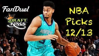 NBA (Fanduel + DraftKings) Picks 12/13