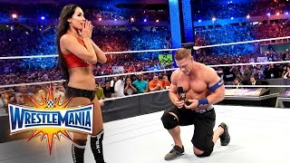John Cena proposes to Nikki Bella: WrestleMania 33 (WWE Network Exclusive)