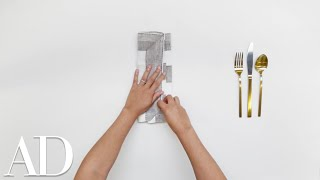 How to Fold a Napkin for a Dinner Party: The Basic Pouch | Architectural Digest