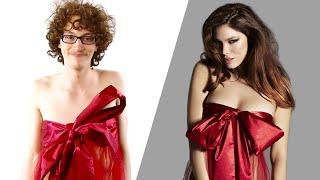 Men Try On Women's Christmas Lingerie