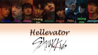 Stray Kids - Hellevator Lyrics Color Coded (Han|Rom|Eng)
