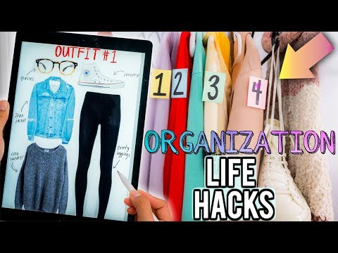 DIY Organization Hacks Every LAZY PERSON Should Know How to CLEAN Your Room Be Productive