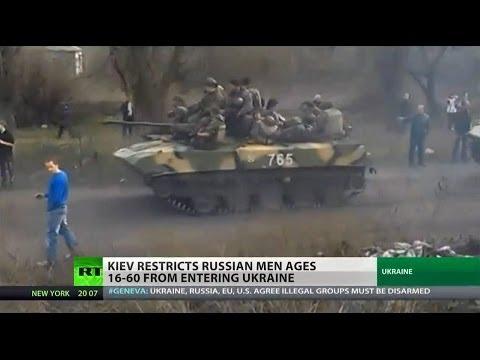 Ukraine enacts travel ban for Russian men