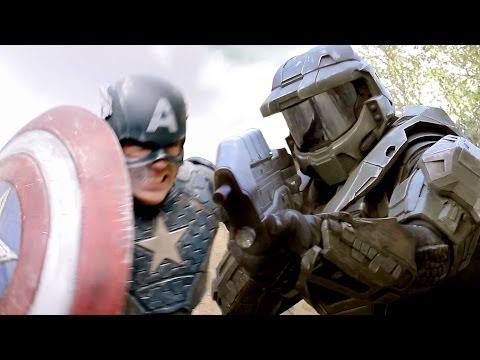 CAPTAIN AMERICA vs MASTER CHIEF Super Power Beat Down Episode 11