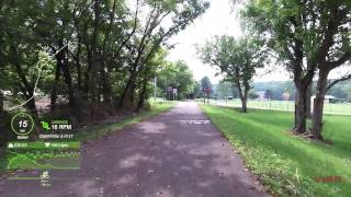 45 minute road cycling - Xenia to Corwin Peddler