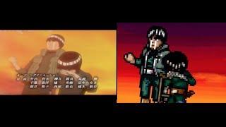 Naruto Opening 5 Sprite remake comparison