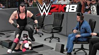 WWE 2K18 Gameplay   Undertaker vs Demon Finn Balor at Wrestlemania Falls Count Anywhere