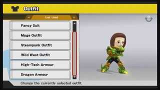 Super Smash Bros. (Wii U) - All Mii Custom Outfits (Male and Female)
