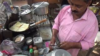 Delhi Roadside Bread Omelette Full Preparation | Best Food to Start ur Day