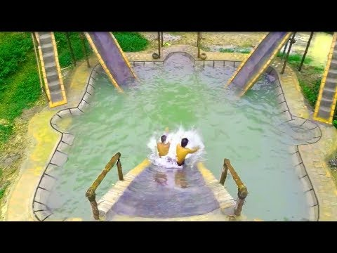 Build Big Swimming Pool & Water Slide for Swimming Pool full video