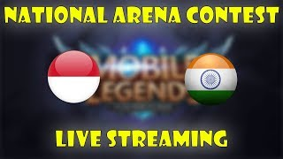 🔴 INDONESIA VS INDIA National Arena Contest 6/10/2017 - Mobile Legends Indonesia