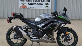 SALE $4,499:  2015 Kawasaki Ninja 300 Special Edition Gray Overview and Review