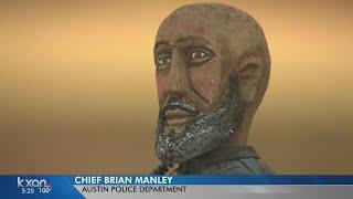 The City of Austin honored fallen Officer Amir Abdul-Khaliq with a figurine