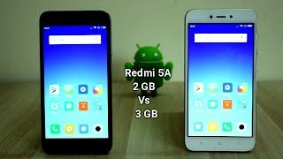 Redmi 5a 2GB Vs 3GB Ram Comparison And SpeedTest I Hindi