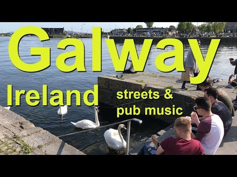 Galway Ireland busy streets and musical pubs