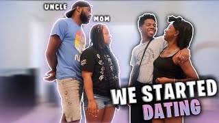 ME AND MY ASSISTANT TELL OUR FAMILY WE ARE DATING! *her uncle wasn't  having it*