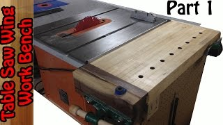 TableSaw Wing Work bench build #1