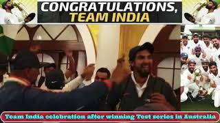 Team India celebration after winning Test series in Australia