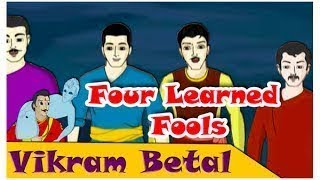 Vikram And Betaal - Four Learned Fools - Funny Animated Hindi Stories