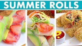 Fun & Healthy Summer Rolls Recipes! - Mind Over Munch