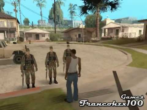 CJ es reclutado a dar el Servicio Militar 1 3 Gta San Andreas Loquendo
