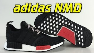 Adidas NMD Black/Red - Review + On Feet