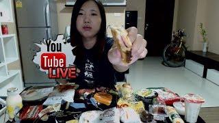Eating 7 Eleven Instant Thai Foods  | Thai Food Mukbang :)  | Livestream