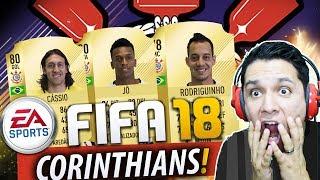 CORINTHIANS NO FIFA 18?!?! CARTAS DE OVERALL!!!