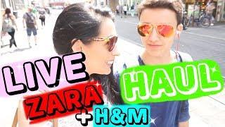 LIVE ZARA + H&M HAUL mit MAX I ROSELLA MIA