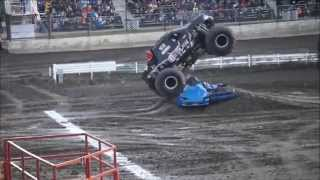 Brian Maes Iron Outlaw Saturday Freestyle Monster Truck Throwdown Castrol Raceway 2015