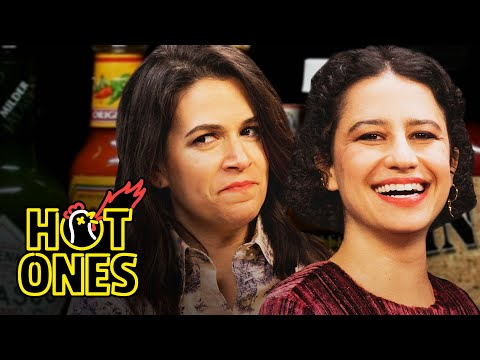 Abbi and Ilana of Broad City Go Numb While Eating Spicy Wings Hot Ones