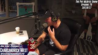 The Pat McAfee Show Simulcast Ep. 79- Charcandrick West 10-10-17