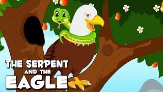 English Stories For Kids | The Serpent And The Eagle | Children Story In English By Aanon Animation