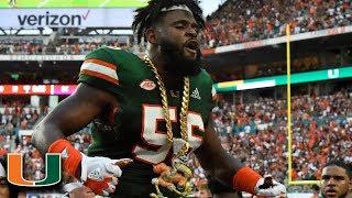Miami LB Michael Pinckney Top Plays 2018
