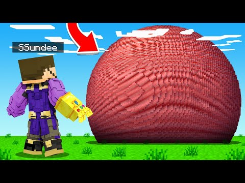 HOW To BUILD a THANOS NUKE in Minecraft Insane Craft