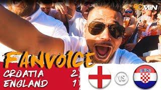Croatia 2-1 England   Mandzukic and Perisic goals beat England 2-1 in World Cup Semi Finals!