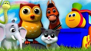 Bob il treno | suoni animali canzone | filastrocche | Animal Sounds Song