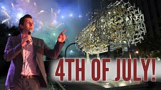 Max Amini Hosting 4th of July Freedom Sculpture Unveiling