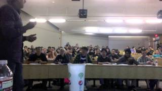 Professor pranks students on first day
