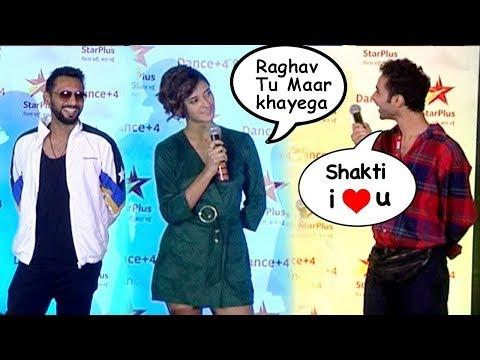 Raghav Juyal Funny Flirt At Dance+4 Star Plus Launch| |Remo Dsouza| Shakti Mohan| Dance 4 plus 2018