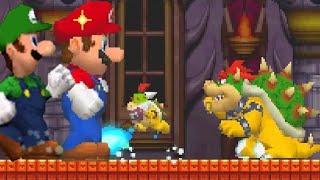 New Super Mario Bros. DS - Mega Mushroom Boss Pwnage (All Bosses)
