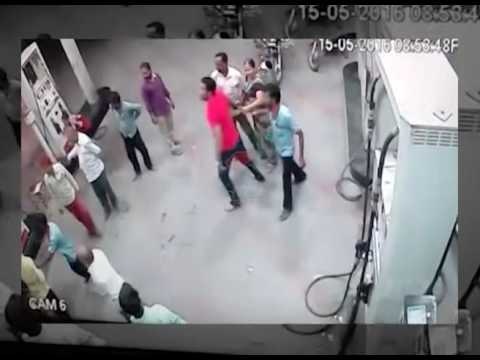 Fight at Petrol Pump in Gujarat Caught on Camera