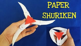 How to make a Paper Ninja Star (Shuriken) | Cyclone Tri-blade Thrower